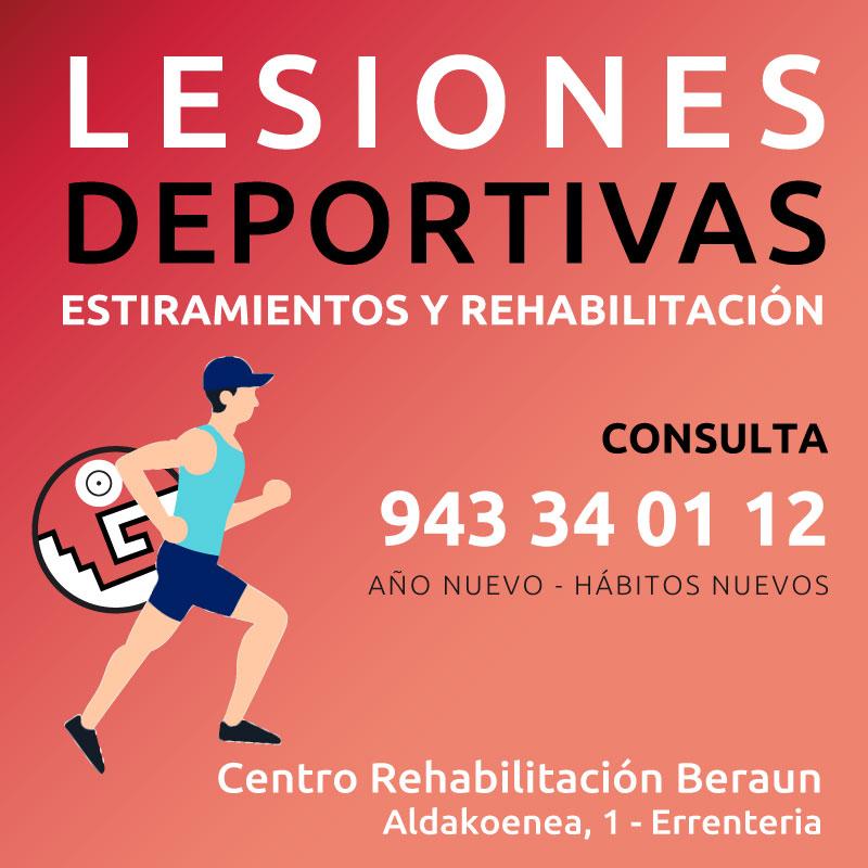 Rehabilitación de lesiones deportivas más habituales