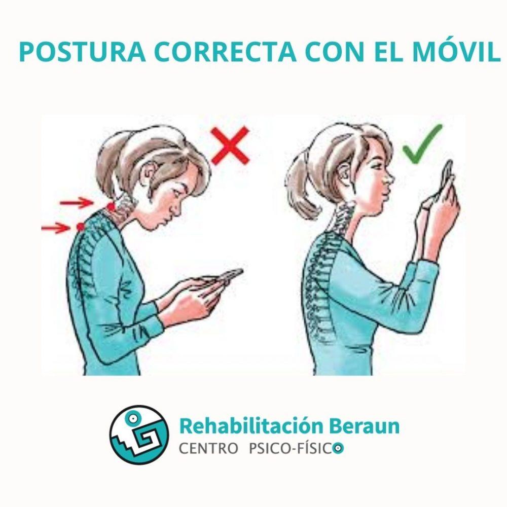 Corregir postura a usar el móvil